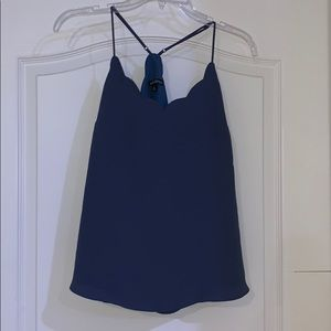 Tops - J crew scalloped tank top